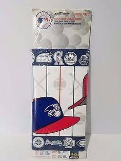 Major-League-Baseball-Wall-Paper-Border-Sports-Man-Cave-10-2-034-W-x-5-Yards-MLB