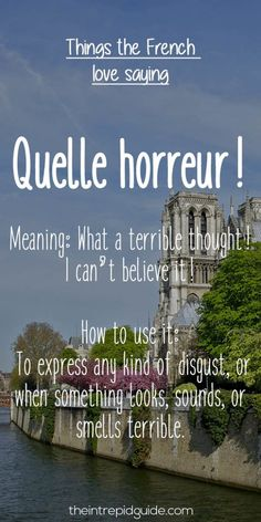 French expressions quelle horreur