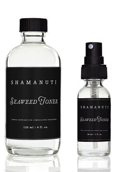 """""""I swear that this toner somehow makes my moisturizers absorb more easily. Plus, it has a fresh scent that I so look forward to spritzing on my face after cleansing.""""  Shamanuti Seaweed Toners"""