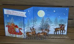 SUO Rudolph with Santa's Sleigh by 1stampingnightowl - Cards and Paper Crafts at Splitcoaststampers
