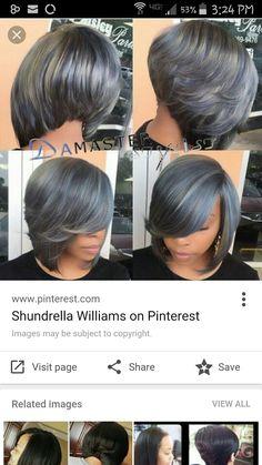 Short Choppy Bobs, Angled Bob Haircuts, Grey Hair, Cut And Color, Hair Colors, Cute Hairstyles, Bob Cut, Hair Ideas, Hair Makeup