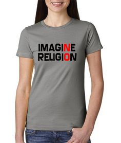 Imagine No Religion Free Thinker - by PiecesOfSungreen @ Etsy, $15.99  #John #Lennon