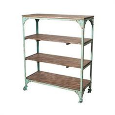Industrial Shelving Unit - Aqua : Bookcases & Cabinets : The Furniture Store