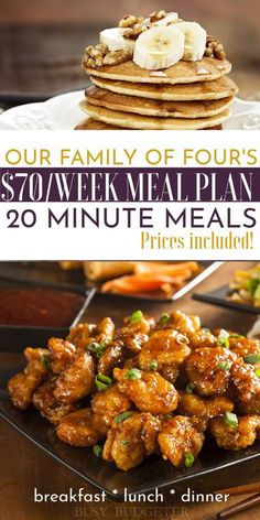 Basically the is a meal plan on a budget - they list the grocery prices for the meal plan and for less than $70 dollars a week, you can feed your family of four breakfast, lunch and dinner. They do a lot of chicken stir fry's so that the dinners are easy to make (less than 20 minute meals). Great source for easy dinner ideas and cheap and easy meal plans for beginners. #easydinners #chickenstirfry #mealplan Cheap Meal Plans, Easy Meal Plans, Healthy Meal Prep, Healthy Breakfast Recipes, Healthy Recipes, Dinner On A Budget, Dinner Ideas, Dinner Recipes, Cheap Family Meals