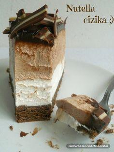 Nuttelový nepečený dort