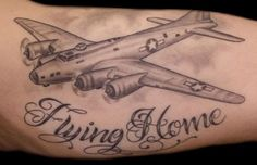 Flying Home <3 airplane, tattoo