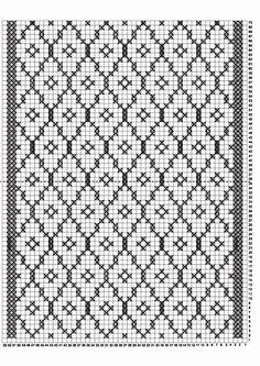 Filet Crochet, Crochet Stitches Chart, Knitting Charts, Knitting Stitches, Crochet Doilies, Knit Crochet, Intarsia Patterns, Fair Isle Knitting Patterns, Knitting Designs
