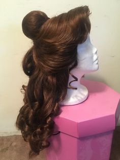 Belle ball wig by TheMagicalDesigns on Etsy