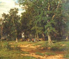 The Athenaeum - Haymaking in oak grove (Ivan Ivanovich Shishkin - )