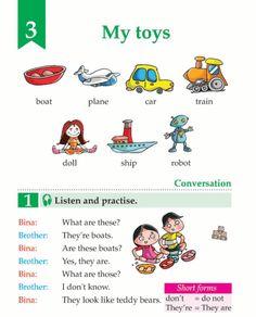English Book Grade 1 My Toys English Grammar Book, English Phonics, English Grammar Worksheets, English Phrases, English Book, English Vocabulary, English Classes For Kids, Learning English For Kids, Learning English Online