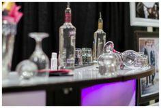 Contemporary wedding bar decor, wedding decor, 2011 Calgary Bridal Expo.