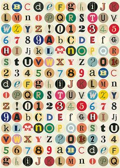 Vintage alphabet wrapping paper via Discover Paper