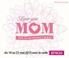 Spécial Fête des Mères : -20% sur notre sélection d'articles  Parce que chaque maman est unique, Linnea a sélectionné pour vous toute une série d'articles pour lui faire plaisir à l'occasion de la fête des mères, et vous fait profiter de 20% de remise avec le code BFM20  Notre sélection : http://www.linnea.fr/fete-des-meres/c-757/