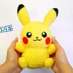 DIY Pikachu Sock Plushie with Free Pattern! DIY Pokemon Tutorial