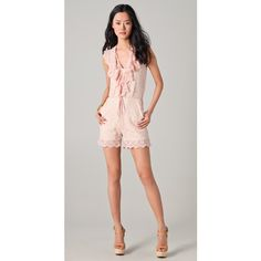 ALICE by Temperley Surya Lace Romper ($138) ❤ liked on Polyvore