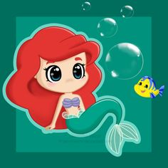 Chibi Ariel by *Jennifairyw on deviantART