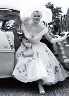 Sabrina attending the horse races at Ascot, England, 1957
