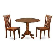 fd5a3ed94191b Saddle Brown Breakfast Nook Plus 2 Dinette Chairs 3-piece Dining Set (Wood  seat