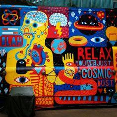Shoreditch Cosmic, Graffiti, Relax, Graffiti Artwork, Street Art Graffiti