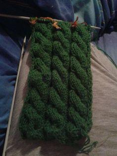 Es lo que hay. Mis cosas y yo. : Bufanda de ochos a dos agujas. Bufanda para hombre.