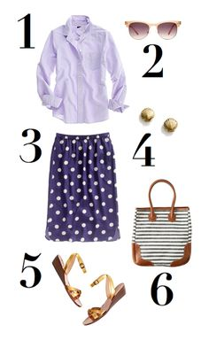 Exploring a seaside village - chambray top and fun skirt with cute accessories