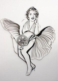 Marilyn Monroe Magnificent Cassette Art by Erika Iris Simmons