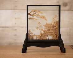 Carved Chinese Cork Art