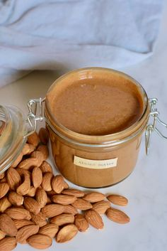 It takes just 15-20 minutes, and ONE ingredient to make this smooth, creamy homemade almond butter - refined sugar0free, hydrogenated oil-free, cheaper, and tastier than store-bought! Homemade Almond Butter, Raw Almond Butter, Vegan Peanut Butter, Blender Food Processor, Food Processor Recipes, Beet Salad Recipes, Speed Foods, Healthy Snacks, Healthy Recipes