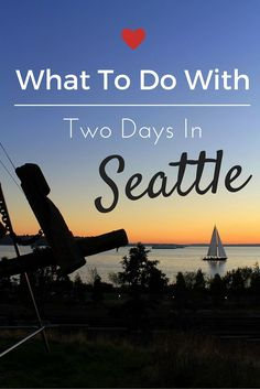 Two days in Seattle, Washington - In case we ever take a trip to Seattle Seattle Vacation, Seattle Travel, Vacation Spots, Seattle Sights, Cruise Vacation, Seattle Usa, Disney Vacations, Oh The Places You'll Go, Places To Travel