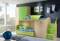 Bunk Bed Design Ideas with Storage Made of Wooden Material