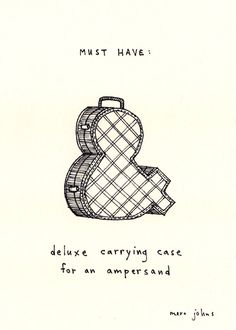 Marc Johns Serious Drawings: Ampersand carry case, I want one
