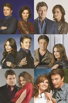 Castle & Beckett through the years. The last two are from this season.