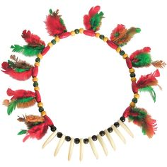 Indian Necklace With Feathers