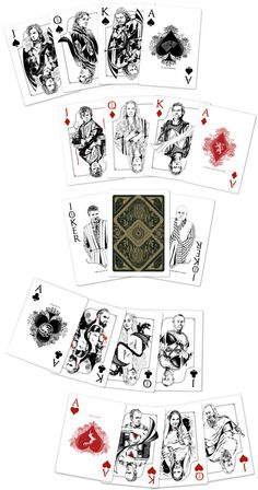 Playing Cards - Game Of Thrones Playing Cards by Paul Nojima, Time Void - playingcards, playingcardsart, playingcardsforsale, playingcardswithfriends, playingcardswiththefamily, playingcardswithfamily, playingcardsgame, playingcardscollection, playingcardstorage, playingcardset, playingcardsfreak, playingcardsproject, cardscollectors, cardscollector, playing_cards, playingcard, design, illustration, cardgame, game, cards, cardist