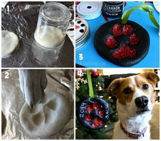 puppy salt dough ornament