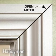 DIY: How To Avoid Gaps In Mitered Cuts - soon you'll be hanging trim like the pros! There are some great tips on this link. DIY: How To Avoid Gaps In Mitered Cuts - soon you'll be hanging trim like the pros! There are some great tips on this link. Home Renovation, Home Remodeling, Home Improvement Projects, Home Projects, Trim Carpentry, Moldings And Trim, Moulding, Molding Ideas, Crown Moldings