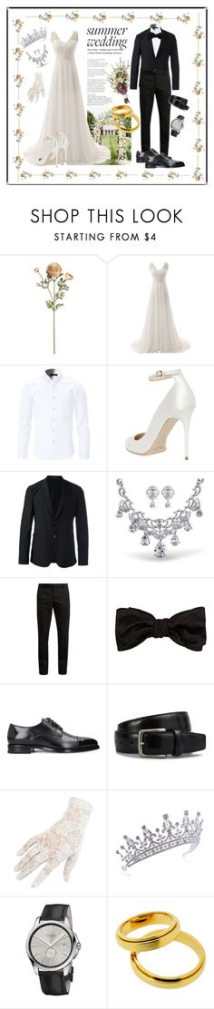 """""""wedding"""" by cubukkrakker ❤ liked on Polyvore featuring Jimmy Choo, Emporio Armani, Yves Saint Laurent, Alexander McQueen, Tod's, Black, Gucci and Piaget"""