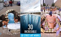 30 Incredible 3D Street Art works from the worlds best street artists. Read full article: http://webneel.com/best-street-art-works-inspiration | more http://webneel.com/paintings | Follow us www.pinterest.com/webneel
