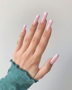 Edgy Nails, Fancy Nails, Trendy Nails, Cute Nails, Cute Acrylic Nail Designs, Cute Acrylic Nails, Simple Nail Designs, Nail Manicure, Gel Nails