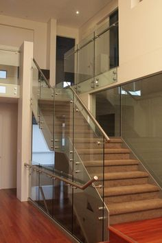 on this job we did the staircase from the ground floor to the mezzanine level and the gallery and landing