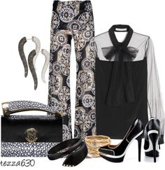 """""""That Little Black Clutch - set IV - It's OK to Blow Your Own Horn."""" by tezza630 on Polyvore contest entry - """"That Little Black Clutch"""" - group """"It's All About the Bag""""  03.31.2013"""