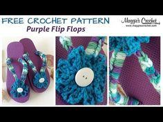 Purple Flip Flop Free Crochet Pattern - Right Handed - YouTube