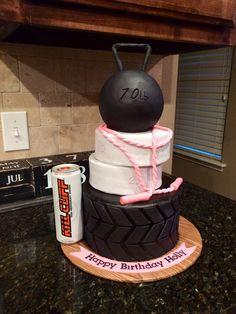 My crossfit birthday cake!! So cool!