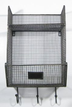 Wire Mesh Wall-Mount Basket, Set Of 2 | Pinterest | Wire mesh, Wall ...