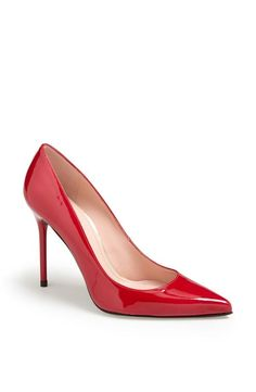 Red hot pumps are a wardrobe staple.