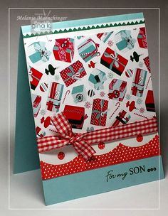 Fabulous Holiday Fillers stamp set and card by Melanie Muenchinger. Hands, Head and Heart: Gina K. Designs Mini Hop for You!