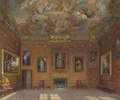 Windsor Castle: The Queen's Audience Chamber. Wild 1818