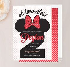 17 Best Minnie Mouse Birthday Invitations Images In 2019