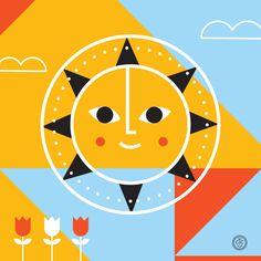 SUNday SUN No. 028 by Tad Carpenter