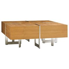 Tres Chic Square Cocktail Table | SmartFurniture.com - Smart Furniture